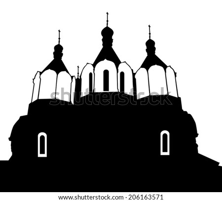 the silhouette of the church on