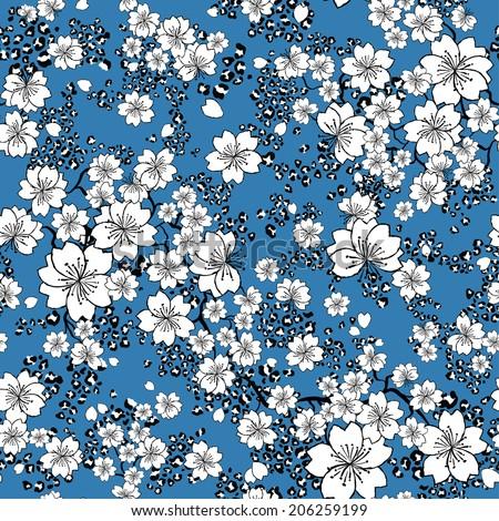 vector seamless gentle flower