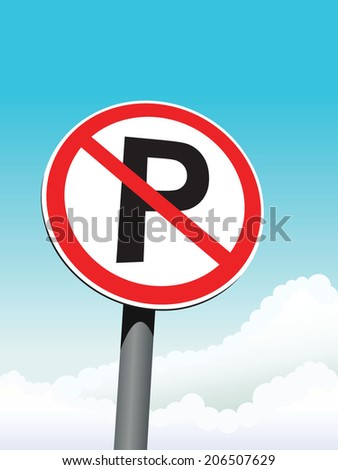 no parking sign on sky