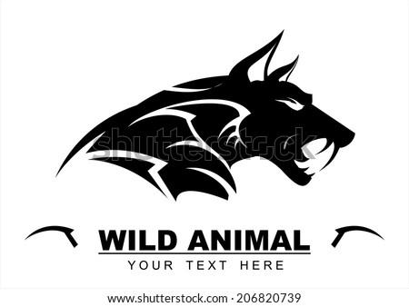 black wolf  wild wolf black