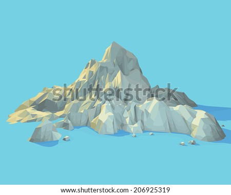 vector geometric mountain scene