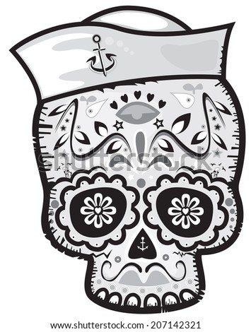mexican sailor sugar skull