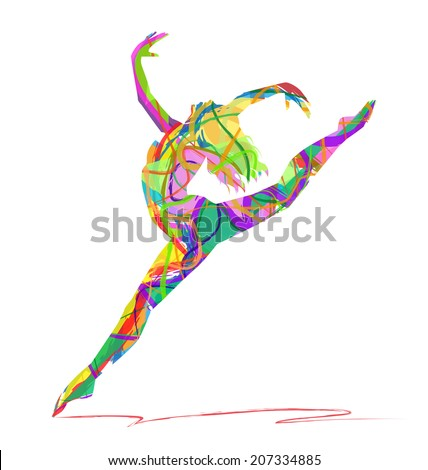 abstract vector silhouette