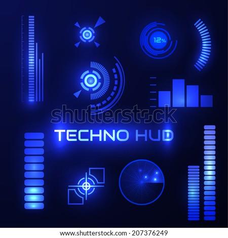 technological hud elements