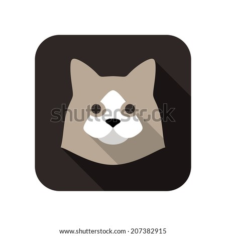 cat face flat icon