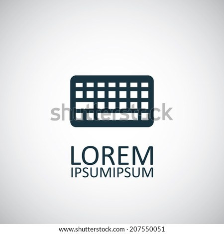 keyboard icon  isolated  black