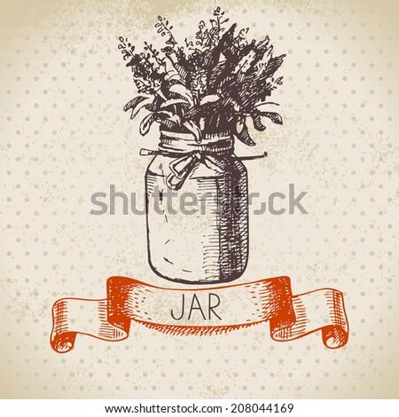 rustic jar with lavender