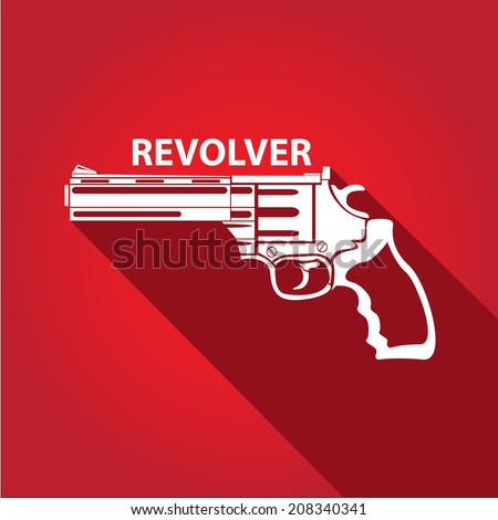 vector stylish white revolver