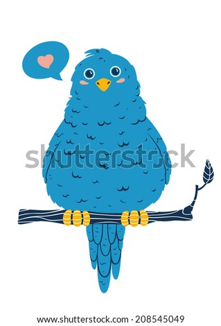 cute blue bird