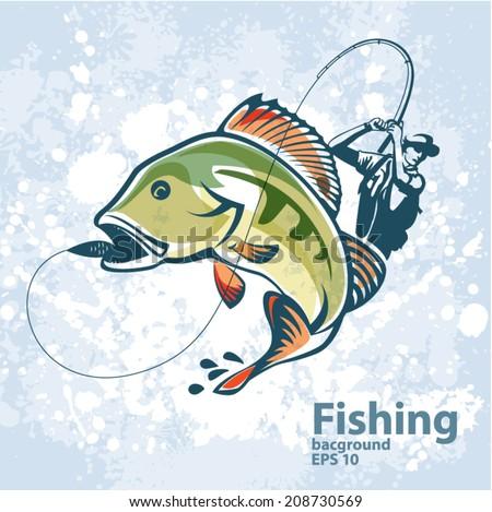 fishing vector labels