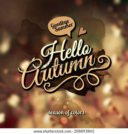 vector autumn blurred background