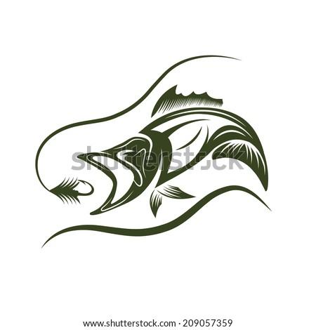 aggressive fish jumping from