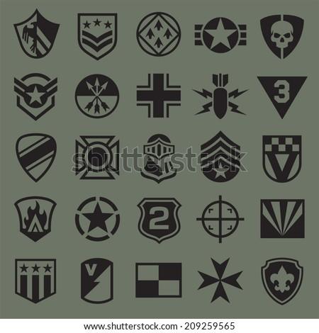 military symbol icons 2