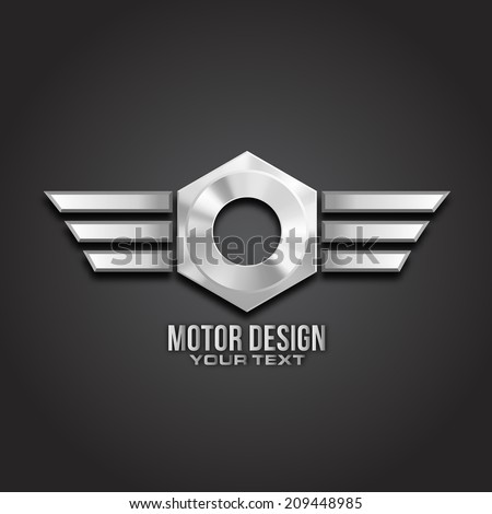 motor icon concept design in