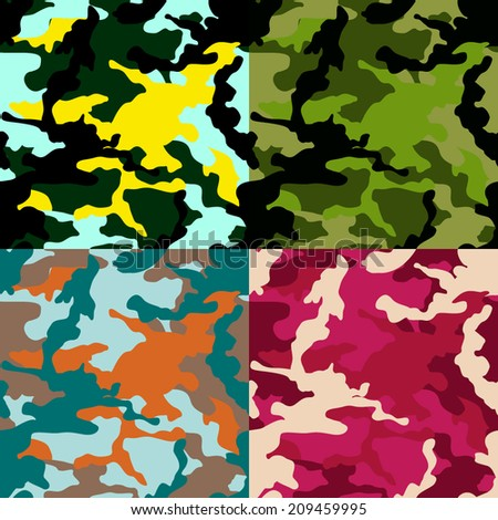 seamless colorful camouflage