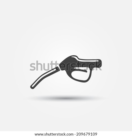 fuel gun  pump  vector icon
