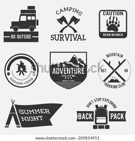 camping badges premium