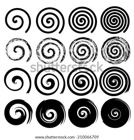 set of spiral motion elements