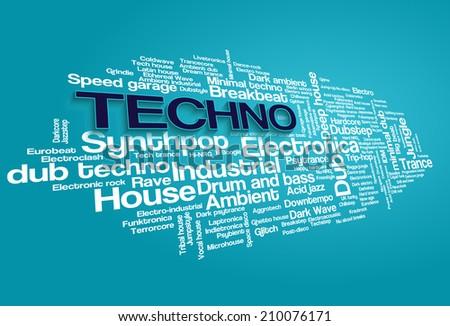 electronic techno music styles