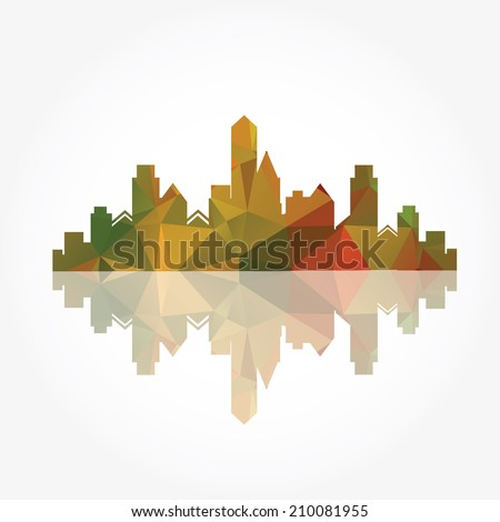 illustration of city buildings