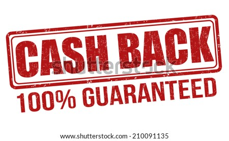 cash back grunge rubber stamp