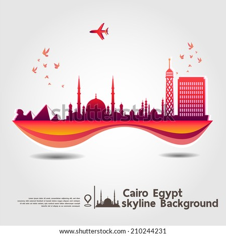 cairo egypt skyline background