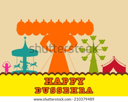 view of a fair on dussehra
