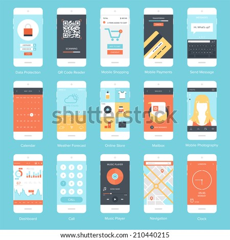 flat vector collection of