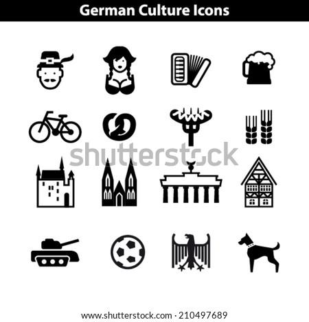 german culture icon set