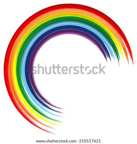 art rainbow color brush stroke