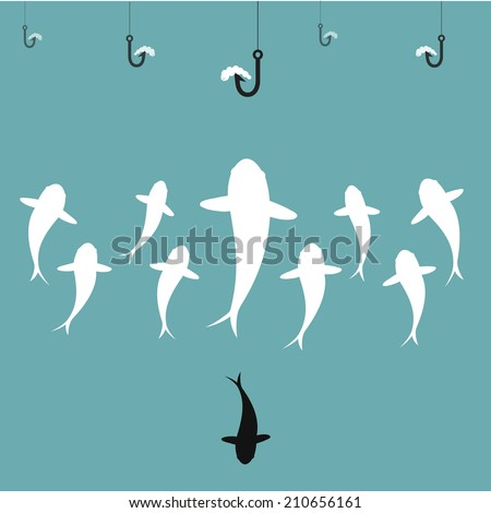 vector image of fish and