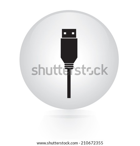 usb flash drive button web icon