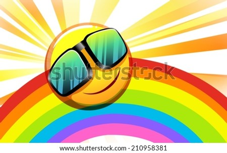 illustration of a rainbow with