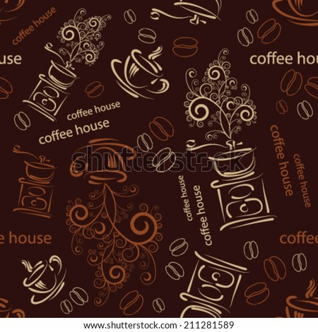 wallpaper with cup of coffee
