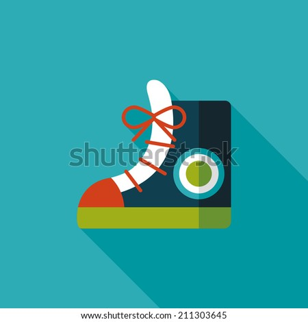 vintage shoes flat icon with