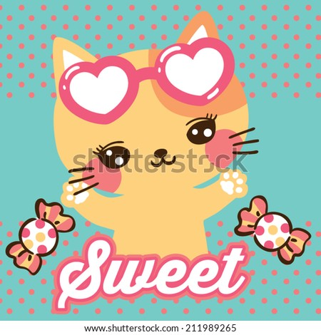 cat and candy