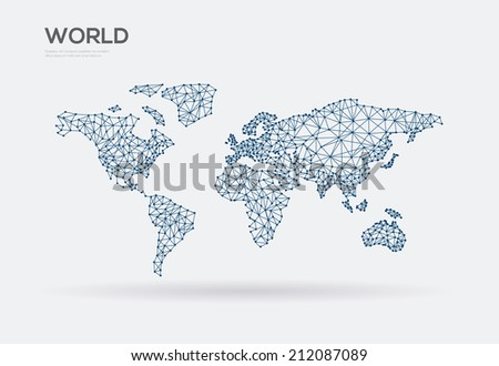 abstract connection world map