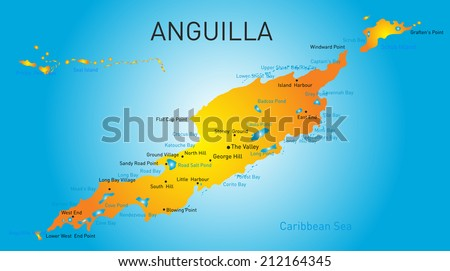 anguilla territory vector color