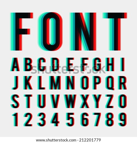 font stereoscopic 3d effect in