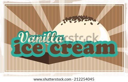 retro ice cream poster vector