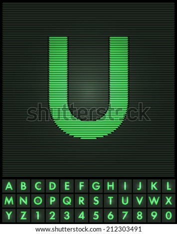 green interlaced letters and