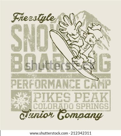 snowboard camp vector artwork