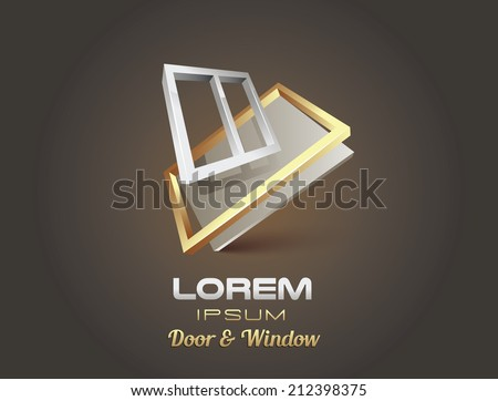 window door abstract shape sign