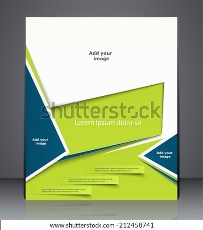 vector layout business brochure