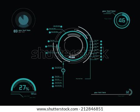 futuristic green infographics