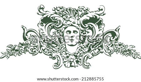 woman's face with branches and