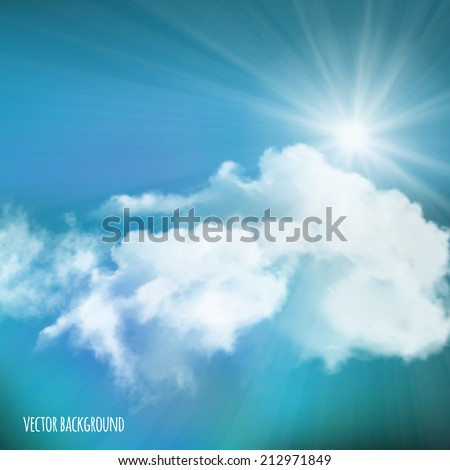 vector background  sun over