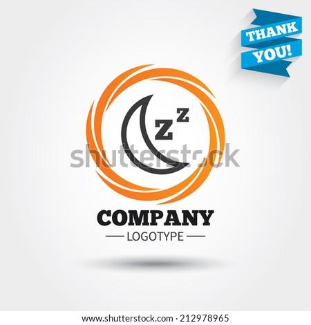 sleep sign icon moon with zzz