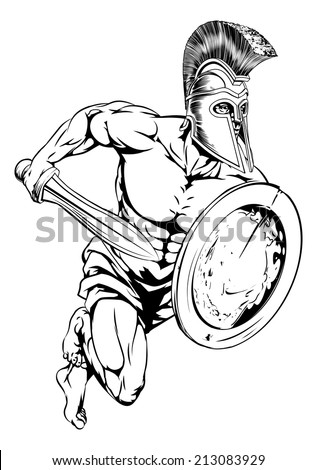 an illustration of a gladiator