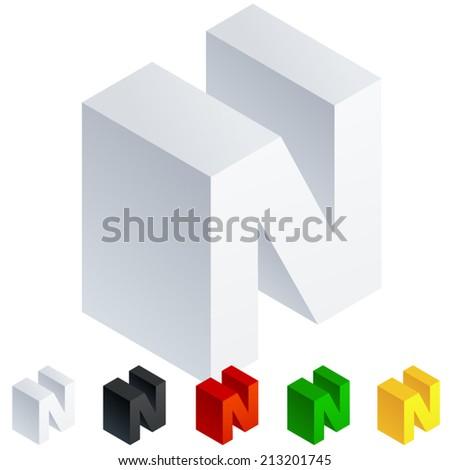 vector illustration of solid 3d